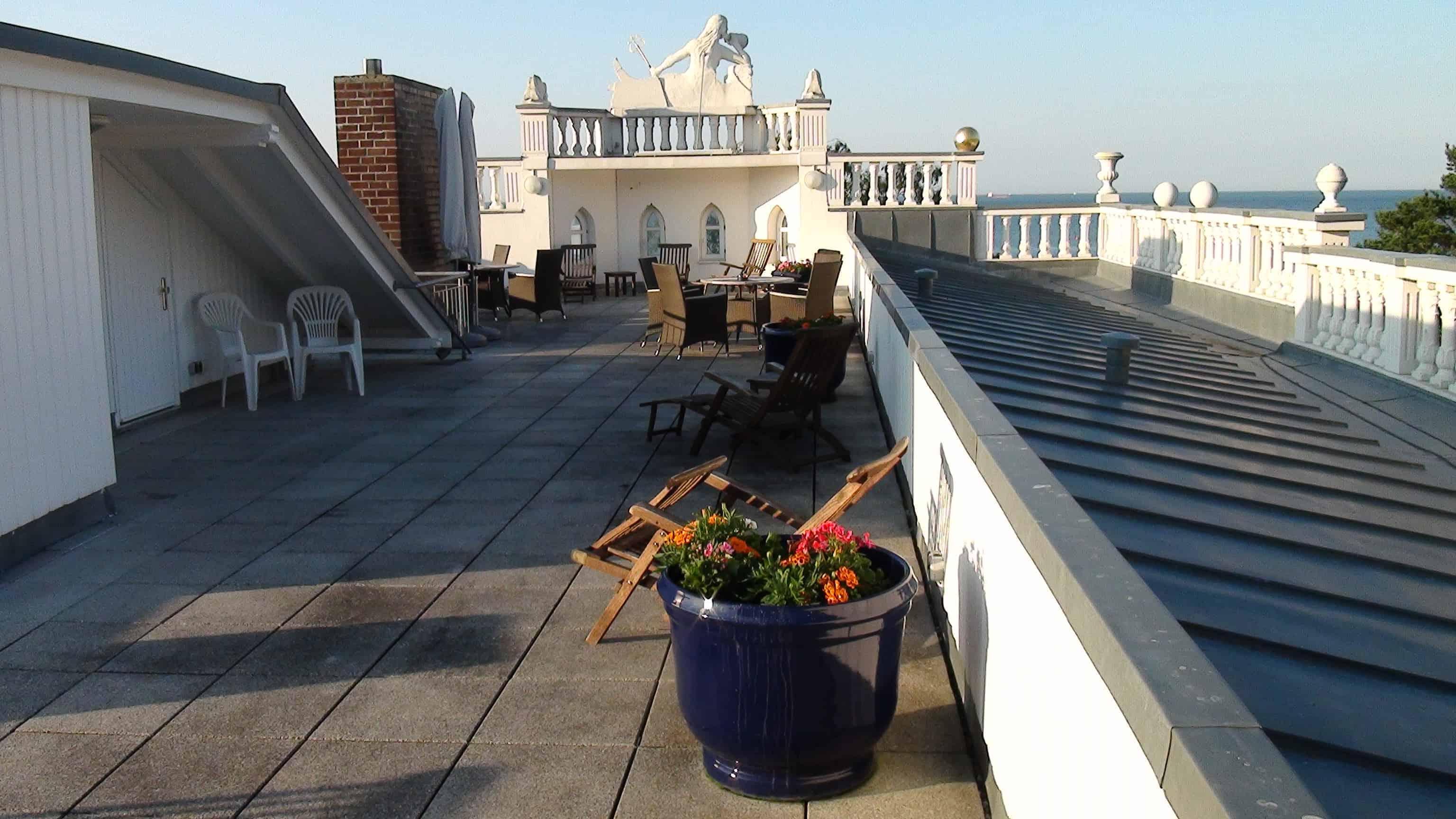 Villa Sirene Ferienwohnung: Dachterrasse